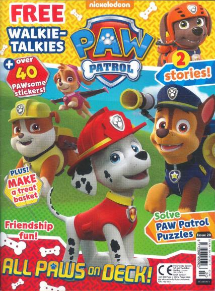 Paw Patrol Magazine issue 20, July 2017