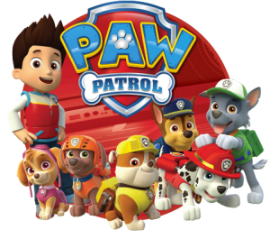 Paw Patrol characters from the magazine
