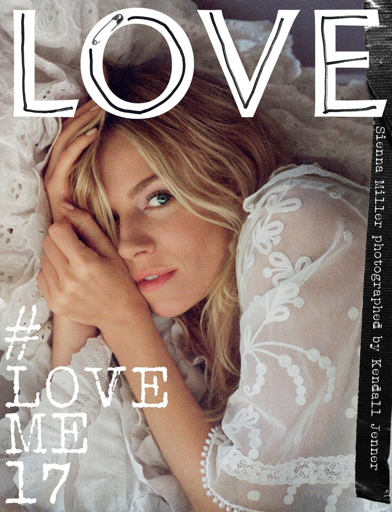 Love Magazine Sienna Miller Cover Issue 17