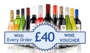 Receive a £40 wine voucher with every order